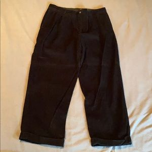 Eddie Bauer 36x30 black corduroy pants used